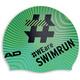 Head Hashtag Silcone Suede Cap Swimrun